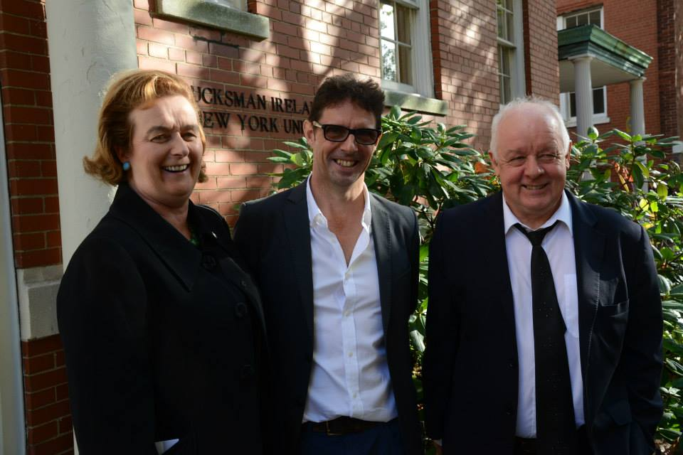 - Barbara Jones (Consul-General New York), Niall McKay (festival organizer), Jim Sheridan (film director)