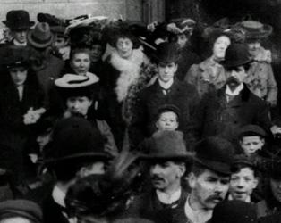 Congregation Leaving Jesuit Church of St Francis Xavier, Dublin (1902)_2 MED