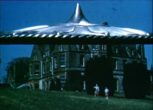 A flying saucer invades Co. Monaghan in Them in the Thing. Copyright Samantha Leslie 1955.
